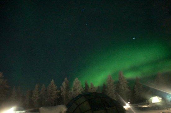 Kakslauttanen Arctic Resort: Northern Lights Taken From Inside The Igloo
