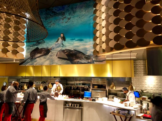 Grill picture of fish by jose andres oxon hill for Fish by jose andres menu