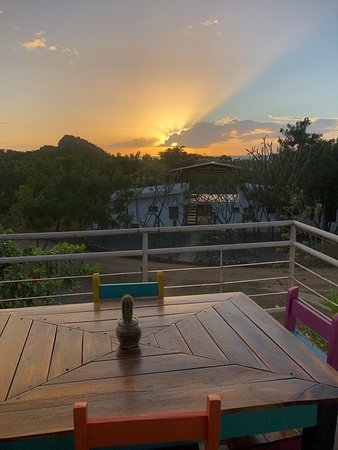 Playa Gigante, Nicaragua: Sunset from the hotel patio