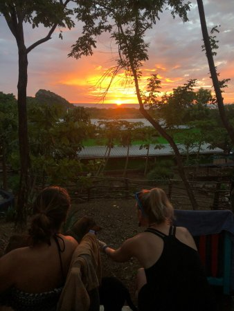 Playa Gigante, Nicaragua: Sunset from the pool