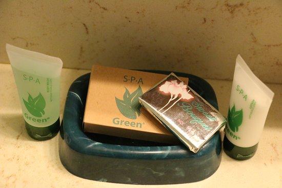Beech Mountain, Carolina del Norte: Stocked with soap, shampoo/conditioner, body wash, and lotion