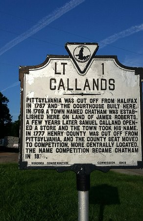 Callands Historical Marker, Callands, Virginia