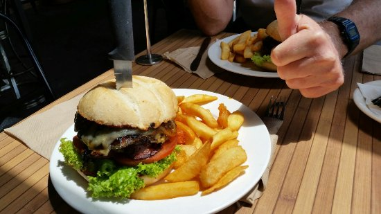 Berowra Waters Fish Cafe: The Wagyu Burger with the Works!!