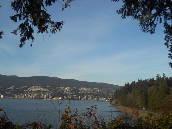 Teahouse in Stanley Park: view from just outside the teahouse