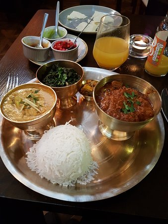 Yaks: A lovely Nepalese combination platter