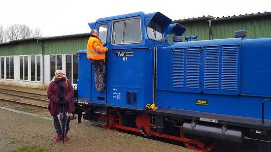 Schonberger Strand, Tyskland: Die Lok eine MAK Industrielok, gebaut in Kiel