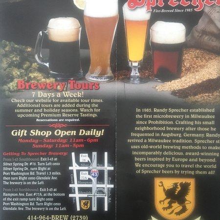 Sprecher Brewing Co. : Tour info