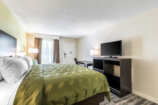 Quality Inn West Palm Beach Airport King Sofa Guest Bath Vanity
