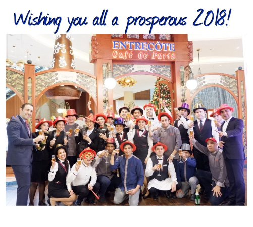entrecote cafe de paris happy new year to all our guests