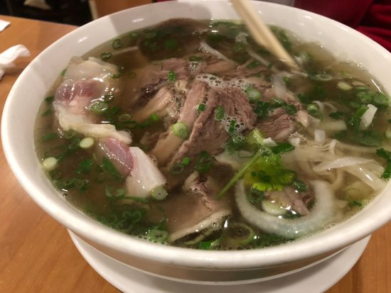 Pho With Well Done Steak Flank Brisket Tendon And Tripe Picture Of Pho Saigon Express Escondido Tripadvisor
