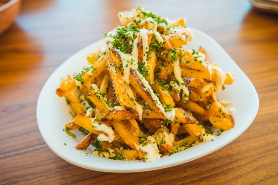 Del Valle, TX: Blue Prairie's famous Truffle Fries.