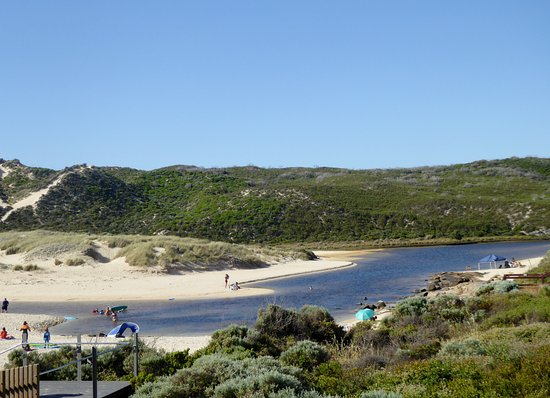Where Margaret River comes out at Surfers Point