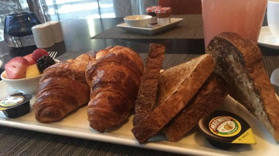 The Hazelton Hotel: The Continental breakfast is the perfect start to the day (reviewer's own Marmite!)