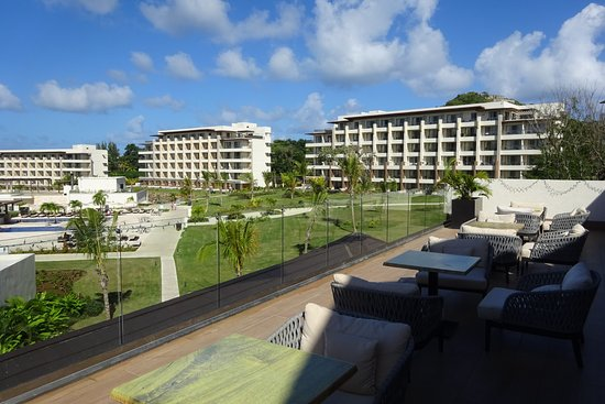 Cap Estate, St. Lucia: View of hotel rooms from main reception area