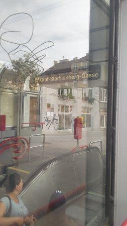 myNext - Sommerhotel Wieden: Nearest exit to the hotel from the underground train station