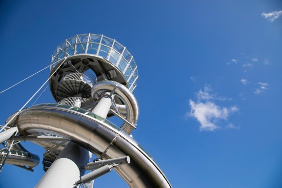 Aventura Slide Tower by Carsten Holler
