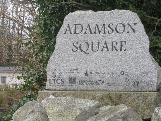 Creetown, UK: granite sign