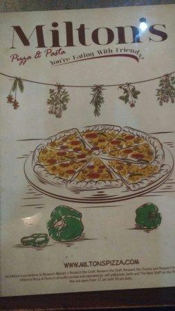 Milton's Pizza & Pasta: Fantastic pasta at Milton's Pizza