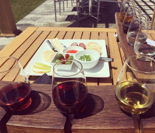 Georgian Hills Vineyards: Flight of 3 wines (each of course!) and a charcuterie board to pair.