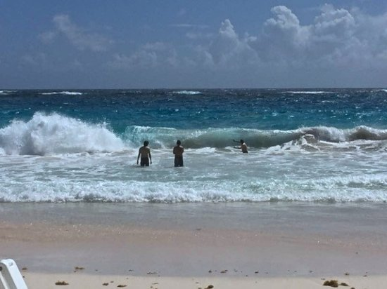 Union Hall, Barbados: First 25 meters of rough waters