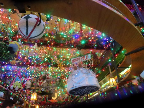 butch mc guires tavern christmas decorations hanging from the ceiling - Chicago Christmas Decorations