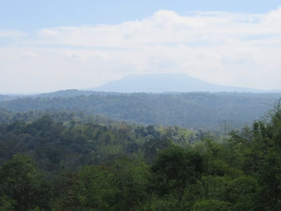 Nam Nao, Thailand: Bell-shaped Phu Kradung in the distance.
