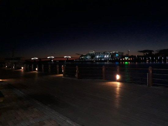 Aquamarine Fukushima: At night view from iwaki lala mew no.1 wharf.