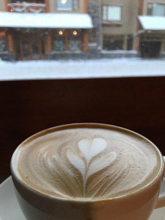 Wild Flour- Banff's Artisan Bakery Cafe: Gorgeous latte art