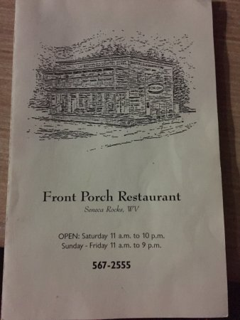 Seneca Rocks, Западная Вирджиния: menu