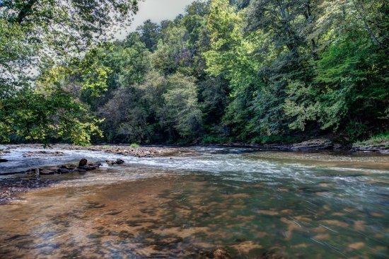 Dahlonega, GA: entrance to tube and kayak trip