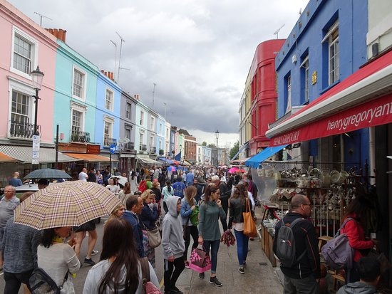 portobello road market on a wet saturday picture of portobello road market london tripadvisor. Black Bedroom Furniture Sets. Home Design Ideas