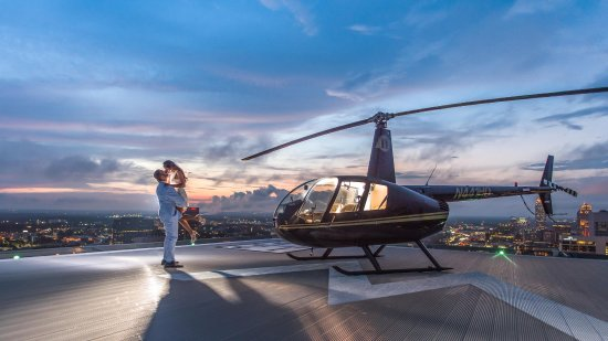 Kennesaw, GA: This is a engagement photo on-top of the W hotel Atlanta Ga