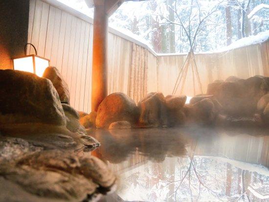 一里野高原 ホテル ろあん, 混浴貸切岩露天風呂