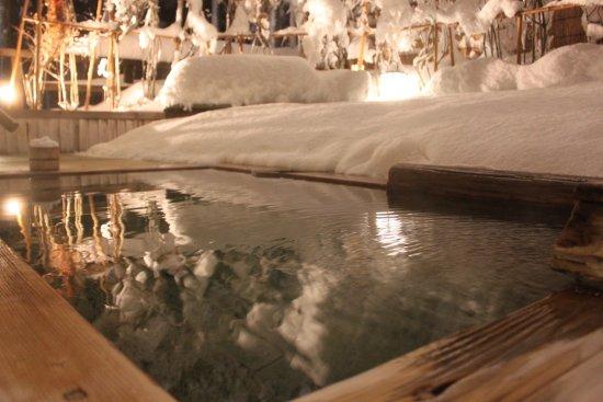 一里野高原 ホテル ろあん, 冬限定の雪見露天風呂(大浴場)