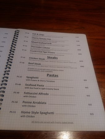 A Page From Menu Picture Of English Tea House Lahore
