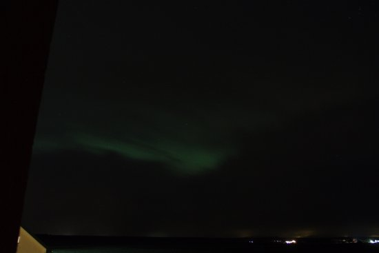 Vatnsholt: We were lucky to have chance to view northern light at night