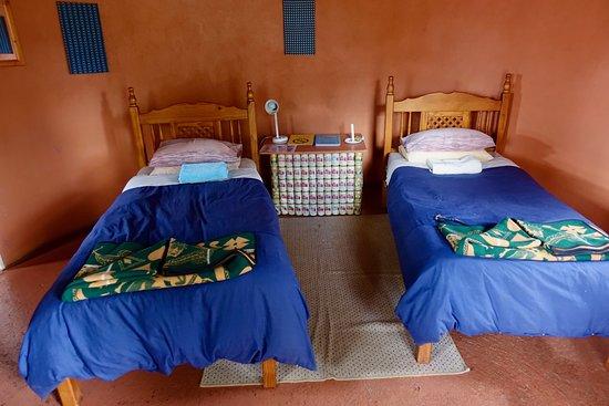 Malealea Lodge: Let op het nachttafeltje...