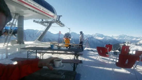 Aletsch Glacier: the skilift and some places to sit and drink