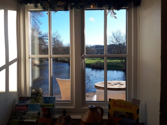 Harnham, UK : View from window table.