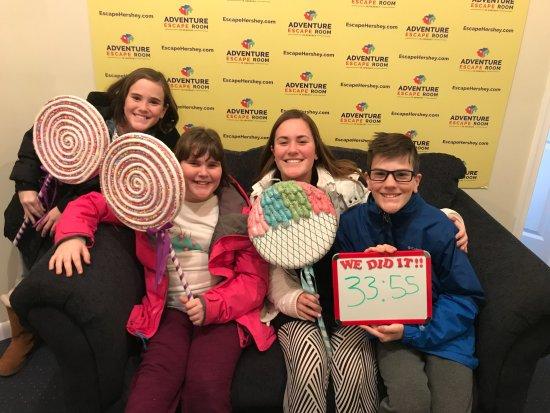 Adventure Escape Room Hershey: Four smart sweeties