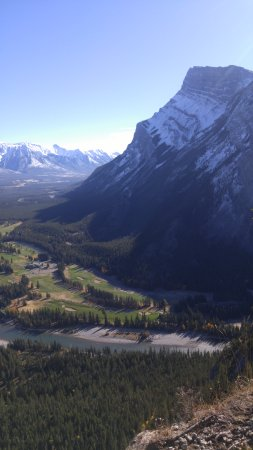 Tunnel Mountain Trail: Mount Rundle from near the top of Tunnel Mountain