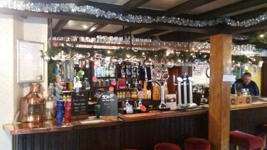 Osmaston, UK: the bar - very festive