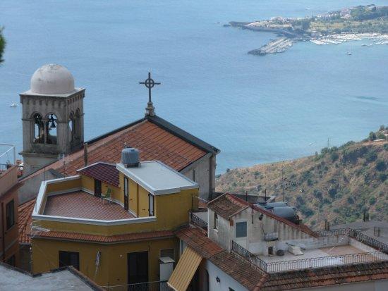 Castelmola, Italie : vue sur la baie