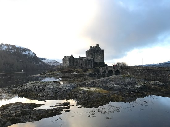 Lochcarron, UK: a fabulous winter day out at Eilean Donan castle, on half an hour from Castle Cottage