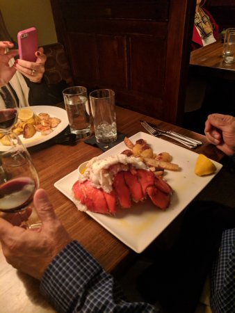 Creve Coeur, MO: LOBSTER TAIL with PARMESAN ROASTED YUKON GOLD POTATOES -