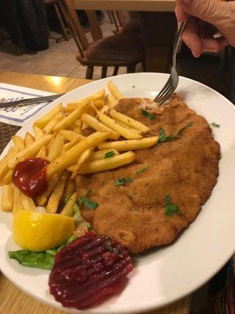 Herrieden, Germany: schnitzel