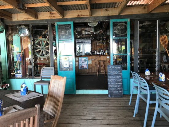 The Waterline Restaurant Beach Bar Great Decor With Lots Of Little Items From Diffe