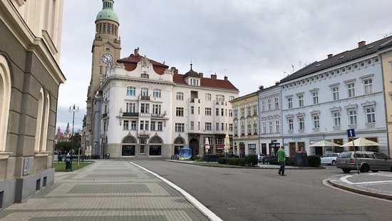 Prostejov, Czech Republic: Photo of the restaurant from the square.