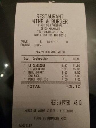 Wine and burger mulhouse restaurant avis num ro de - Numero caf mulhouse ...