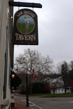 Sam Snead's Tavern: The Tavern sign